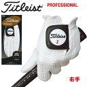 【レフティー・右手用】 タイトリスト Titleist 手袋 プロフェッショナルグローブ 最高級天然羊革 TG77LH