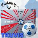 キャロウェイ Callaway クロムソフトX トゥルービスボール ブルー CHROME SOFT X TRUVIS 1ダース(12球) 日本正規品