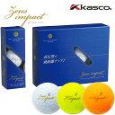 【非公認球】 キャスコ ゴルフボールゼウスインパクト2 高反発 1ダース(12球) KASCO Zeus impact 2 あす楽