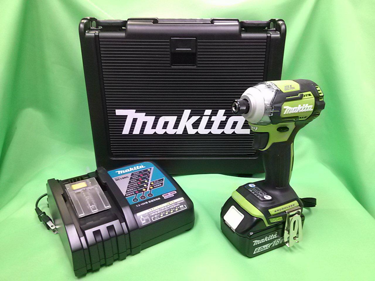 大吉屋オリジナル マキタ18Vインパクトドライバ ライム TD170DRGXL バッテリ(6.0Ah)1個 充電器1個 ケース付き