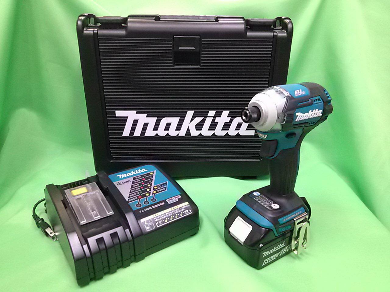 大吉屋オリジナル マキタ18Vインパクトドライバ 青 TD170DRGX バッテリ(6.0Ah)1個 充電器1個 ケース付き