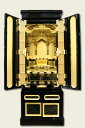 ■本金箔仏壇【送料無料/レビュー割有】本格的な細工と匠の技 金仏壇「15号 ほたる:浄土真宗用」