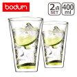 ボダム bodum◆キャンティーン ダブルウォールグラス 400ml (2個セット) 10110-10 Double Wall Glass