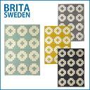 洗えるラグマット 北欧 玄関マット キッチンマット ブリタスウェーデン Brita sweden プラスティックラグ Flower 70x100 cm 選べるカ...