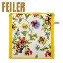 FEILER フェイラー ハンカチタオル コットン 30cm ビオラ ホワイト/イエロー Wash Cloth Towel Viola White Yellow...