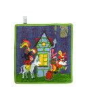 FEILER フェイラー ハンカチタオル 25cm ミニ 童話シリーズ ブレーメンの音楽隊 フェアリーテール Wash Cloth Towel Fairy Ta...