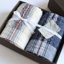 今治タオル コンテックス 40ストライプ ギフトセットImabari Towel Kontex 40 Stripe GiftSetフェイスタオル2枚ギフトラッピ...