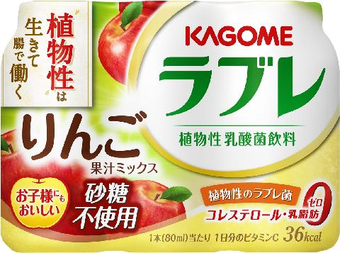 カゴメ 植物性乳酸菌ラブレ りんご果汁ミックス 80ml×3本×6パック