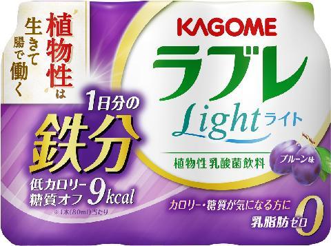 カゴメ 植物性乳酸菌ラブレLight1日分の鉄分80ml×3×6パック