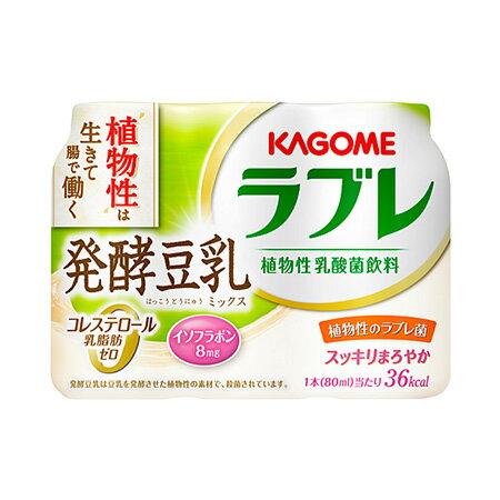 カゴメ 植物性乳酸菌ラブレ発酵豆乳ミックス80ml×3×6パック