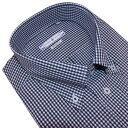 半袖 ビジネスシャツ ボタンダウン 形態安定 スマートフィット M.L.LL 黒のギンガムチェック メンズ civilized genteel