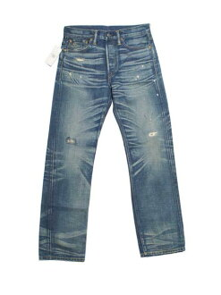 RRL double Aurel damage & Repair ストレートレグ jeans (MEDIUM WASH)