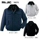 防寒ジャンパー 表綿100% 98070 自重堂 Mr.JIC 防寒着 S〜5L