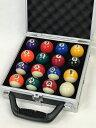 【ケースにキズ】家庭用ビリヤードボール16個セットBY-HC...