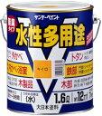サンデーペイント 水性多用途 1.6L ライトグレー 23KJ3 [A190201]