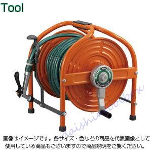 ハタヤリミテッド  テツノホースリール(オレンジ)41m防藻ホース レバーノズル HLA-40N-O [B020108] ホースリールならダイシン工具箱におまかせ!
