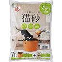 ショッピング猫砂 アイリスオーヤマ IRIS 【3個販売】上から猫トイレ用猫砂 7L UNS-7L [C010814]