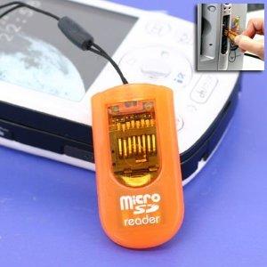 エアージェイ microSDカードライタストラップ橙 [72352] MSD-RWOR [F040313]