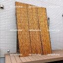 【棕櫚縄】炭火よしず(たてず・たてすだれ)いぶし焼きゴールドよしず高さ240×巾180cm(ゴールド8×6尺)