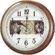 全品ポイント2倍 期間限定 掛け時計 男女兼用 セイコー 電波 からくり時計 RE559H 時計 【RCP】 ※fu P27Mar15