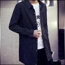 シャツジャケット メンズ アウター プリント ストライプ ロゴ 羽織 キレイ目 カジュアル コーデ ジャンパー ブルゾン 紳士服