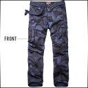 男性流行服飾 - 期間限定 カーゴパンツ メンズ ボトムス ストレート 総柄 コーデ ※ベルトは付属ではございません ※fu