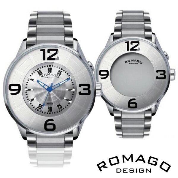 期間限定 腕時計 メンズ 正規品 ROMAGO ロマゴ ナンバーデザイン ミラー文字盤 RM007-0053SS-SV メンズ腕時計 ※fu 腕時計 メンズ 正規品 ROMAGO ロマゴ ナンバーデザイン ミラー文字盤 RM007-0053SS-SV メンズ腕時計 【送料無料】  0601カード分割