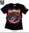 Tシャツ メンズ トップス バイカーテイスト プリント COOL モーターサイクルプリント ファイヤーバイク メンズファッション 半袖 ※fu