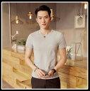 Tシャツ メンズ トップス シャツ 刺繍 クルーネック 半袖 シンプル キレイめ カジュアル メンズファッション