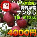 【ご家庭用】青森県産サンふじりんご 約18kg 糖度保証 サイズいろいろ  ※北海道・沖縄離島は除く 【RCP】