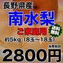 【送料無料】長野県産 南水梨 約5kg (8〜18個入り) 【RCP】