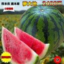 【訳あり】熊本県産夢大地西瓜 Mサイズ 約5Kg以上 ご家庭...