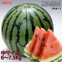 訳あり 秋田県産 夏丸 西瓜 6〜7.5kg 常温便 送料無...
