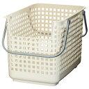 ショッピングランドリーバスケット like-it ランドリーバスケット ワイド ランドリーサポート 22L ホワイト 幅34x奥46.5x高33.2cm SCB-6
