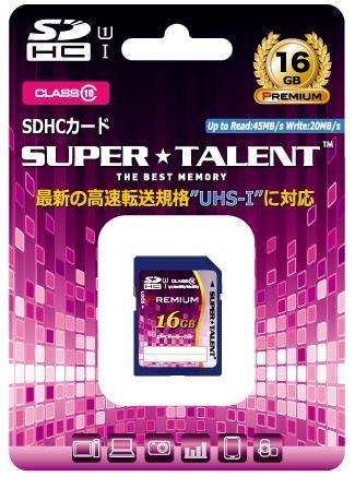 【メール便・ネコポス対応】SUPER TALENT SDHCメモリーカード(16GB) 【ST16SU1P】