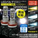 【LEDバルブ ヘッドライト/フォグランプ】12000ルーメン フィリップス製LED H7 H8 H11 H16 HB3 HB4 PSX24W PSX26W ホワイト イエロー ブルー 3000K 6500K 8000K LEDヘッドライト 1年保証
