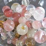 [¥ 500 硬幣他們] [天然石火山石英混合 (人工)︰ 圓 4-10 毫米 30 g [石、 天然石材和珠、 寶石珠功率基調串珠-罷工-運動-電源-清單-y] [532P17Sep16]