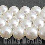 淡水珍珠 (自然) 白圓 [B] 約 4-5 毫米 (大小顯示是厚度) 1 (36-38 釐米) [石、 天然石材、 珠子和石頭珠子功率基調串珠-罷工-運動-電源-清單-y] [532P17Sep16]