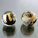 【ベネチアンビーズ】 24ktゴールド 925シルバーフォイル 丸玉 約10mm ブラック 1ヶ 【ベネチアン ヴェネチアン ヴェネチアンビーズ】