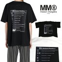 mm6 メゾンマルジェラ Tシャツ MAISON MARGIELA エムエムシックス メゾンマルジェラ オーバーサイズ 半袖 Tシャツ MM6 MAISON MARGIELA エムエムシックス レディース LOGO PRINT T(全2色)【S52GC0150-S23588】
