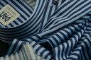 ★表示価格より10%OFF★イタリアシャツ DANROMA ドゥエボットーニ ESCLUSIVE NAMUR DA_CELESTE_BLU A RIGHE CELESTE e BLU