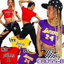 ショッピング衣装 NBAストレッチクロップTシャツ(A0639)CROSS-B