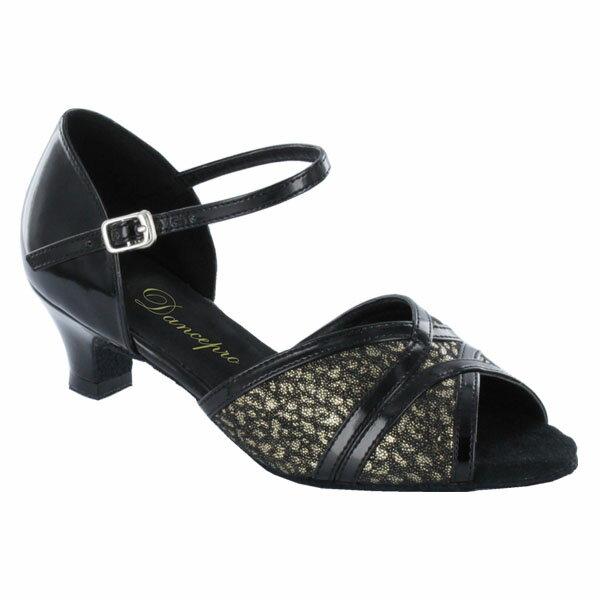 ダンスシューズ・社交ダンスシューズ・レディース【セミオーダー】女性ラテンシューズ・黒(ブラック)173002セミオーダー品ですのであなたにぴったりの1足がつくれますよ♪