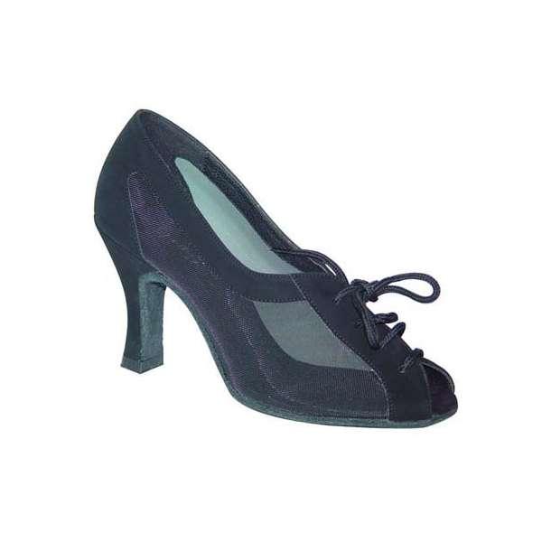 ダンスシューズ・社交ダンスシューズ・レディース【セミオーダー】女性サルサシューズ・黒ブラック164401セミオーダー品ですのであなたにぴったりの1足がつくれますよ♪
