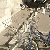 自転車用前かご ステンレス前カゴ SST-411 フロントバスケット