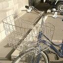 [エントリで最大ポイント14倍]自転車用前カゴ ワイドカゴ ワイヤーメッシュ ステンレス D-55ST 軽快車、シティサイクル、ママチャリ用 自転車の前かご 自...