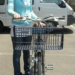 自転車用 自転車用バック : 自転車用前かごワイドタイプ ...