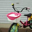 [最大ポイント8倍]幼児自転車用前かご SW-911 プラスチックバスケット ピンク×ホワイト 子供自転車用前カゴ ディズニーのプリンセスカラー