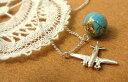 【10月頃入荷予定】【取り寄せ商品】地球儀とチャームのツインネックレス(エッフェル塔、飛行機、ジェット機)