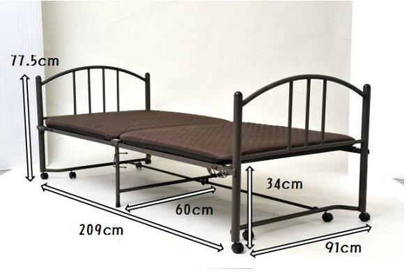 【送料無料】完成品折りたたみ床下収納ベッドシングルサイズ組立不要収納折り畳みスペース有効活用キャスター付きロックピン